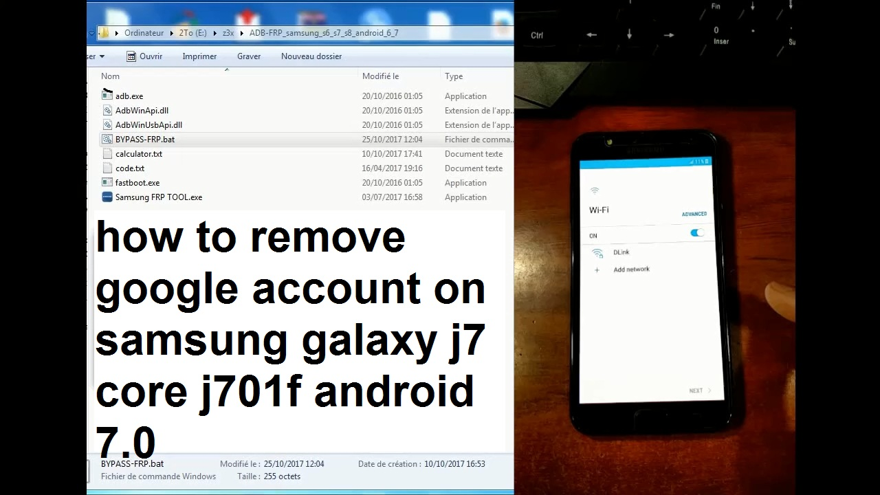 how to remove google account on samsung galaxy j7 core j701f android