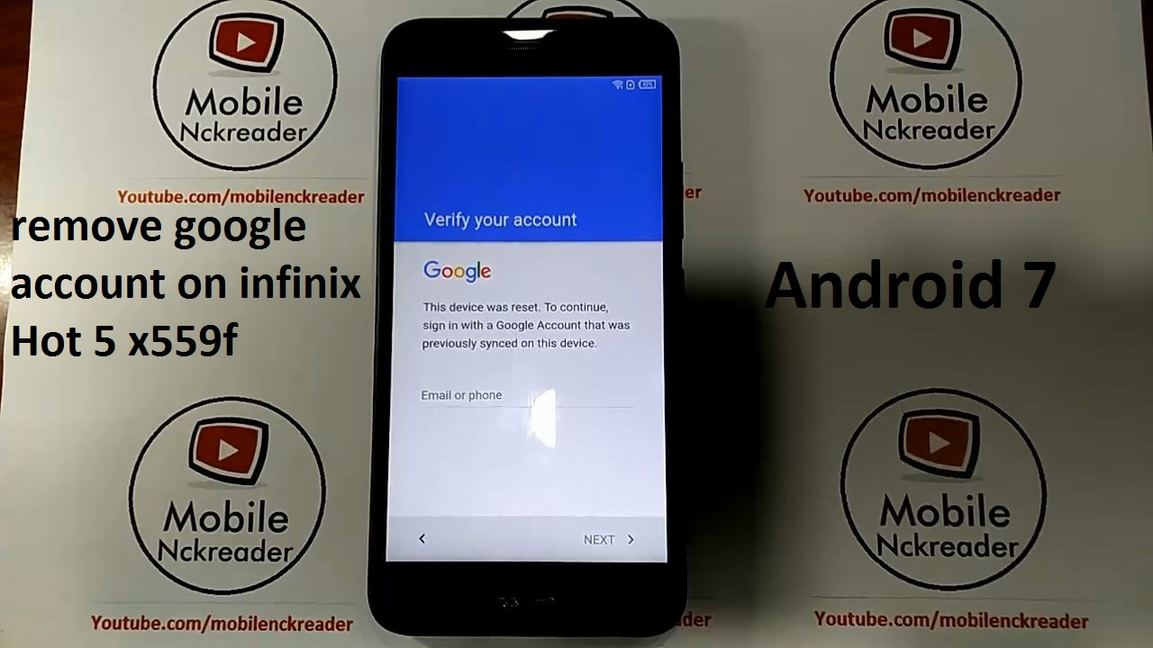 how to remove google account on infinix hot 5 x559 x559f