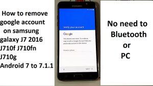 how to remove google account on samsung galaxy j7 2016 j710f j710fn