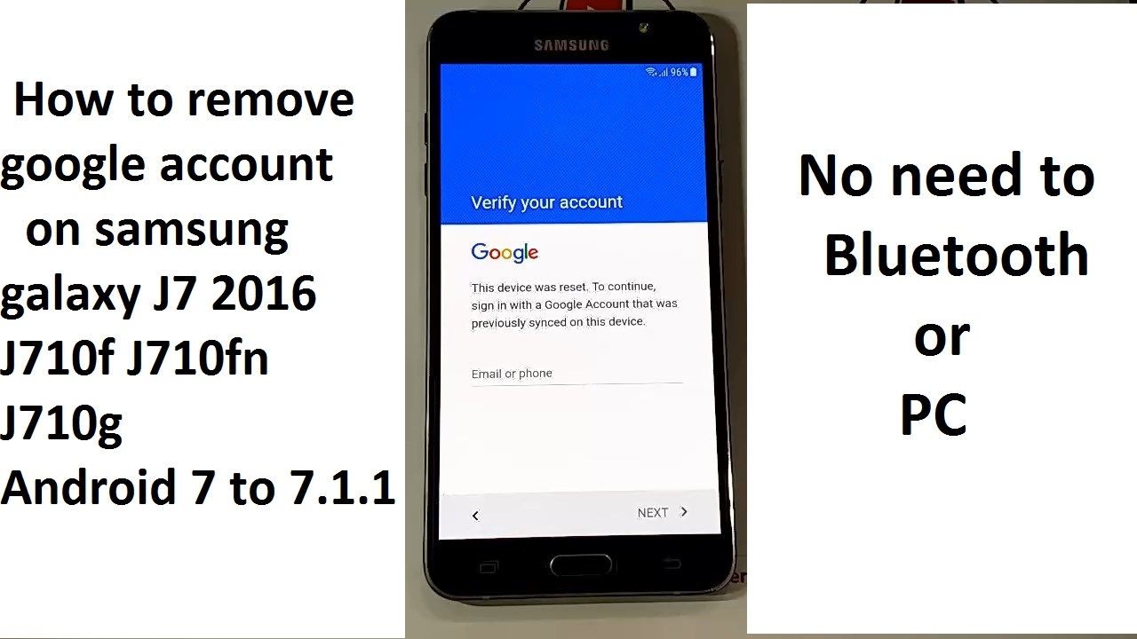 how to remove google account on samsung galaxy j7 2016 j710f j710fn