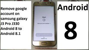 how to remove google account on samsung galaxy j3 pro j330