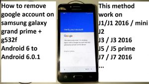 how to remove google account on samsung j1 j2 j3 j5 j7 grand prime