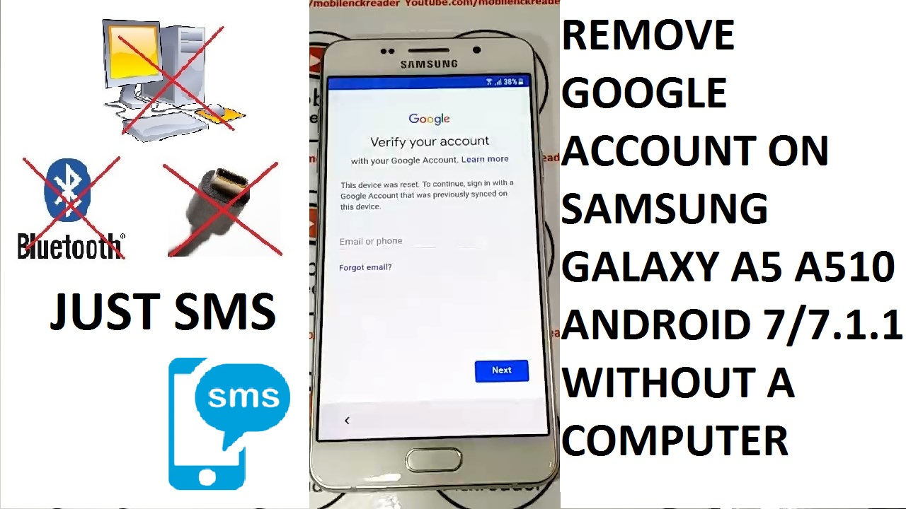 how to remove google account on phone from computer