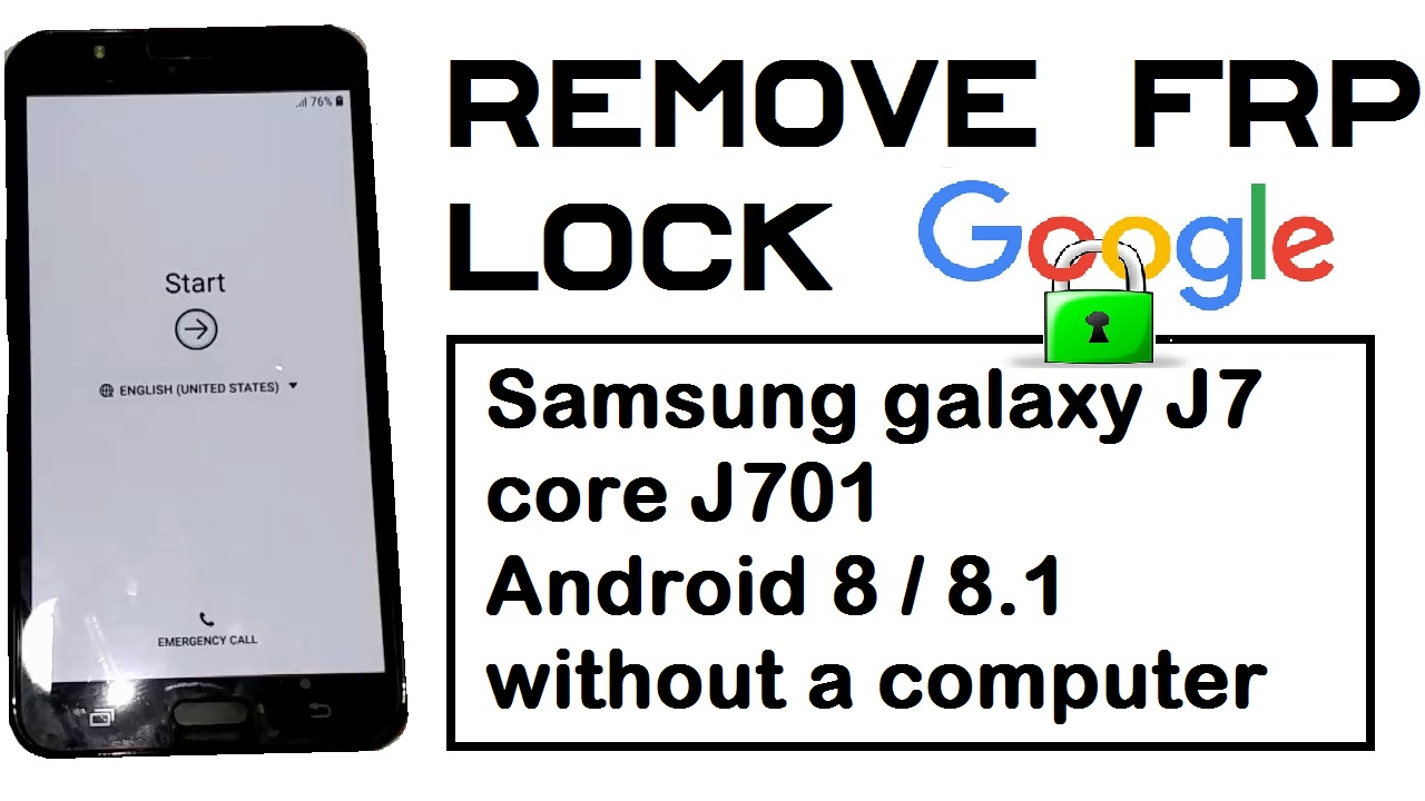 REMOVE GOOGLE ACCOUNT ON SAMSUNG GALAXY J7 CORE J701 ANDROID