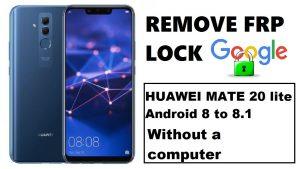 Remove google account huawei mate 20 lite emui 8 2 android 8 1